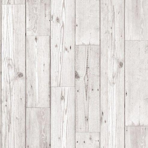 Fresco Wood Panel Effect Grey Wallpaper