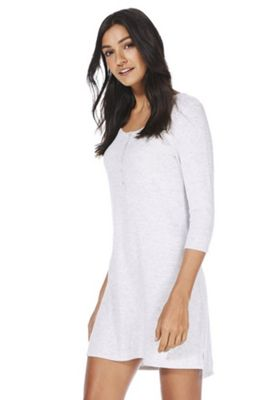 F&F Soft Touch Henley Sleep T-Shirt Grey 8-10