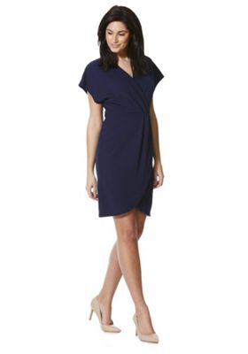 Mela London Wrap Front Dress Navy 12