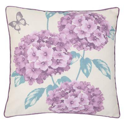 F&F Home Hydrangea Jacquard Cushion