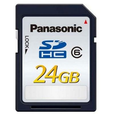 Panasonic 24GB SDHC Card