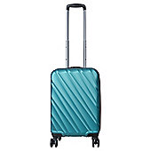 Tesco Munich Cabin 8 wheel  Hard Teal Suitcase
