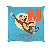 M Is For Monkey Sky Blue Cushion 40 x 40cm