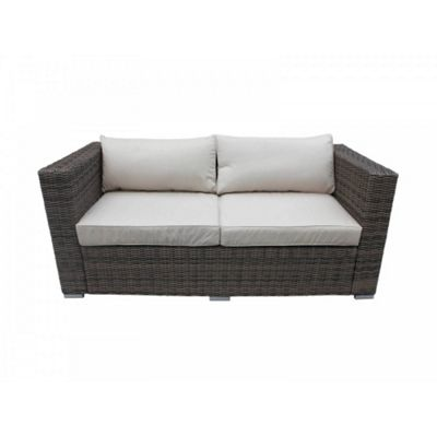 Ascot 2 Seat Sofa in Truffle and Champagne