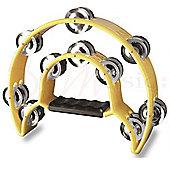 Stagg Yellow Cutaway Plastic Tambourine