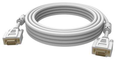 Vision 2x VGA 15-pin D-Sub 0.5m (D-Sub) White cable