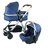Red Kite Push Me Fusion Travel System Denim + Mosquito Net - Navy