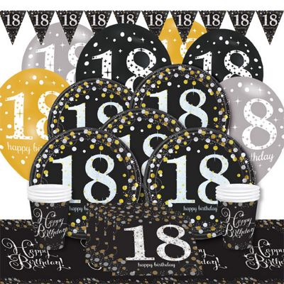 Sparkling Celebration 18th Birthday Party Pack - Deluxe Party for 8