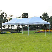 Outsunny 3 x 9m Gazebo Waterproof Wedding Party Tent + Wheeled Carry Bag - White