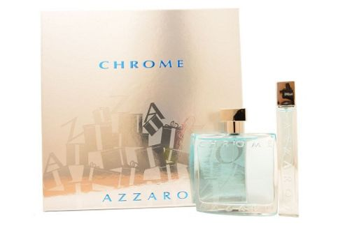 Azzaro Chrome Eau de Toilette 100ml & EDT 15ml Spray Gift Set For Him Homme Men