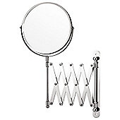 Chrome Extending Magnifying Bathroom Wall Mounted Mirror