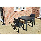 Brackenstyle Madrid Table and 2 Side Chairs Set - Seats 2