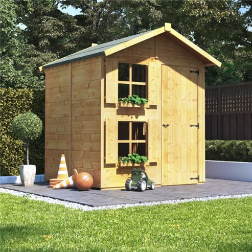 Mad Dash Peardrop Junior Wooden Playhouse, 6ft x 5ft