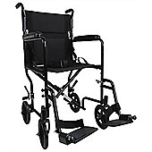 Aidapt Steel Compact Transport Wheelchair in Black