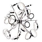 Litecraft Hoops 26 Bulb Ring Ceiling Pendant, Chrome