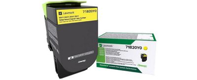 Lexmark 71B20Y0 Laser toner 2300pages Yellow & cartridge