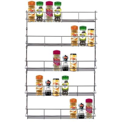 Chrome 5 Tier 40 Jars Spice Herb Jar Rack