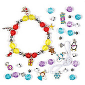 Make Your Own Christmas Charm Bracelet Kits for Children to Design and Wear - Creative Xmas Jewellery Making Set (Pack of 3)