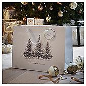 Large Woodland Trees Christmas Gift Bag