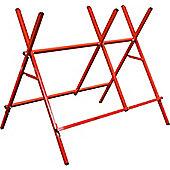 Harbour Housewares Log Saw Horse Adjustable Sawing Bench - 150kg Capacity