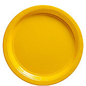 Yellow Plates - 22.8cm Paper Party Plates - 20 Pack
