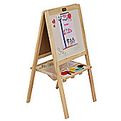 Tikk Tokk 4-in-1 Boss Junior Easel Solid Pine with accessories