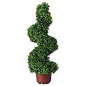 Leaf Effect Artificial Topiary Swirl Shaped Pot Plant