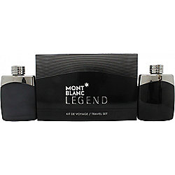Mont Blanc Legend Gift Set 100ml EDT + 100ml Aftershave Spray For Men