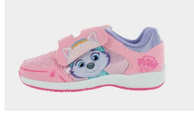 Girls Paw Patrol Everest Pink Hook and Loop Trainers UK Sizes 7