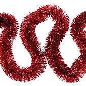 6m Red Fine Cut 7.5cm Christmas Tree Tinsel