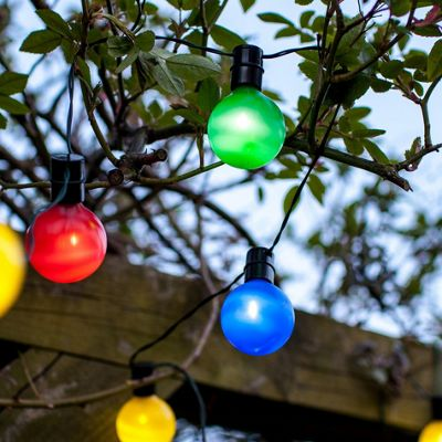 16 Multi Coloured LED Solar Garden Party Lights