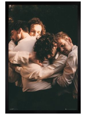The 1975 Black Wooden Framed Hug Poster 61 x 91.5cm