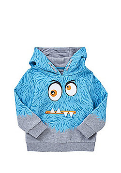 F&F Monster Face Hoodie - Blue & Grey