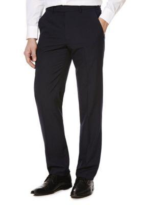 F&F Regular Fit Suit Trousers Navy 46 Waist 29 Leg