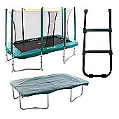 Skyhigh 7ft x 10ft Rectangular Trampoline with Enclosure, Cover and Ladder