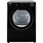 Candy Condenser Tumble Dryer, GVCD81BB, 8kg load - Black