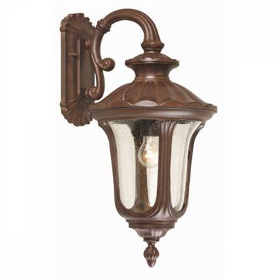 Rusty Bronze Patina Wall Down Lantern Medium - 1 x 100W E27