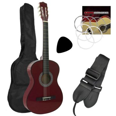 Tiger 1/4 Size Classical Guitar Pack - Red