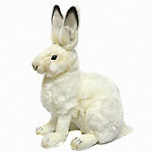 Hansa 27cm Hare White Plush Soft Toy