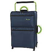 it luggage Worlds Lightest 2 Wheel Poseidon/Lime Medium Suitcase