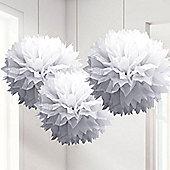 White Pom Pom Decorations - 40cm