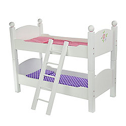 Olivia's Little World Baby Doll Furniture Double Bunk Bed