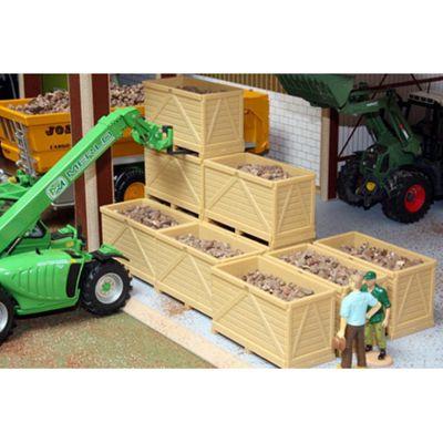 Brushwood Bt2079 10 Potato Boxes With Potatoes - 1:32 Farm Toys