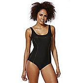 F&F Active Piping Detail Swimsuit - Black