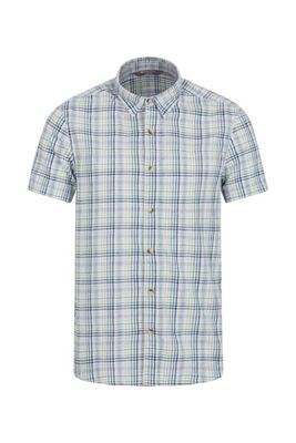 Mountain Warehouse Weekender Short Sleeved Mens Shirt - 100% Cotton -