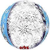 Frozen Snowflakes Orbz Balloon - 25 inch Long Lasting