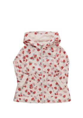 F&F Strawberry Print Hooded Mac Pink 12-18 months