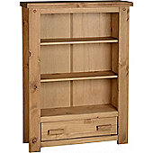 TNW Leon 1 Drawer Bookcase - Distressed Waxed Pine