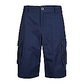 Mountain Warehouse Mens Casual Shorts 100% Cotton Twill&Feature Multiple Pockets - Navy