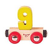 Bigjigs Rail Rail Name Number 9 (Yellow)